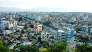 The city of Vlora from the hill of Kuzum Baba