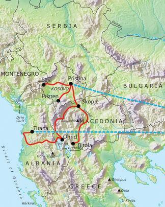 train guide in albania